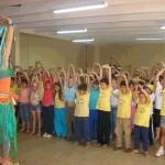 com alunos da rede pública em Praia Grande-SC
